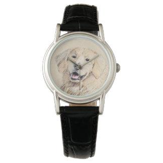 Golden Retriever Painting - Cute Original Dog Art Watch