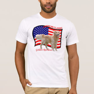 Golden Retriever Patriotic T-Shirt white