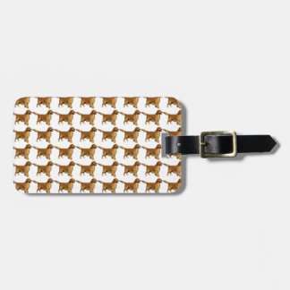Golden retriever pattern luggage tag