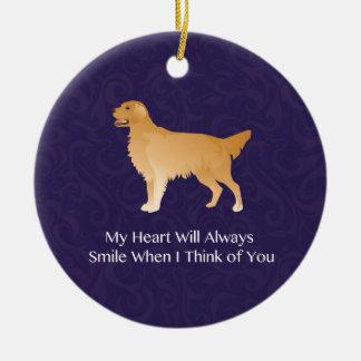 Golden Retriever - Pet Memorial- Thinking of You Ceramic Ornament