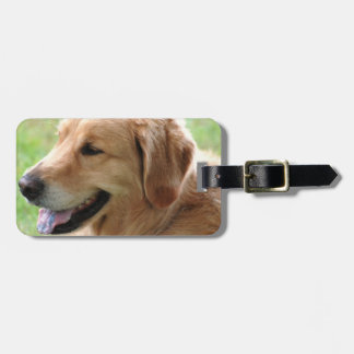 Golden Retriever Pup Luggage Tag