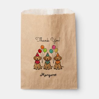 Golden Retriever Puppies Birthday Favor Bags