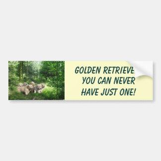 Golden Retriever Puppies Bumper Sticker