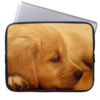 Golden Retriever Puppy Antoine Melancholy I Laptop Sleeve