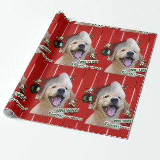 Golden Retriever Puppy Christmas Wrapping Paper