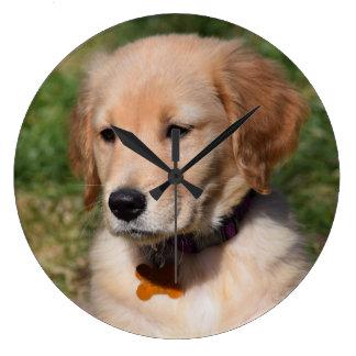 Golden Retriever Puppy Clock
