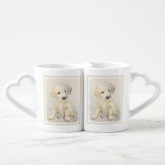 Golden Retriever Puppy Coffee Mug Set