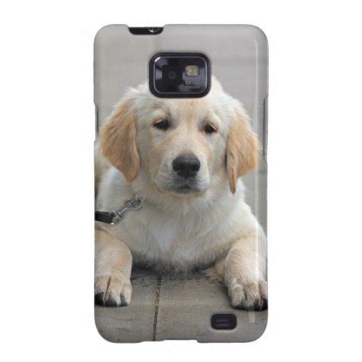 Golden Retriever puppy dog cute beautiful photo Samsung Galaxy Cases