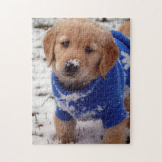 Golden Retriever Puppy Jigsaw Puzzle