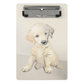 Golden Retriever Puppy Mini Clipboard