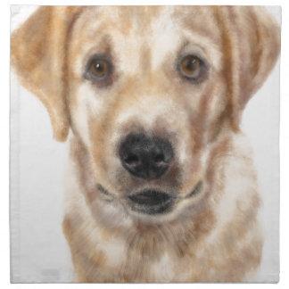 Golden retriever puppy napkin
