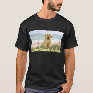 Golden Retriever Puppy On Beach T-Shirt