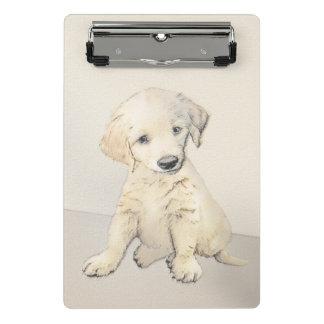 Golden Retriever Puppy Painting - Original Dog Art Mini Clipboard