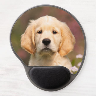 Golden Retriever puppy portrait Gel Mouse Pad
