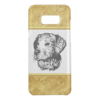 Golden retriever puppy portrait with gold foil uncommon samsung galaxy s8 plus case