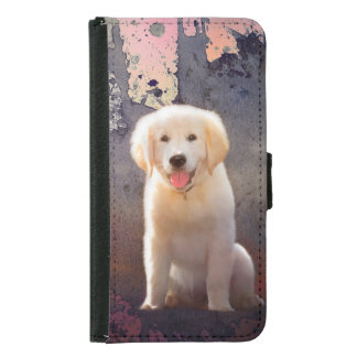 Golden Retriever Puppy Samsung Galaxy S5 Wallet Case