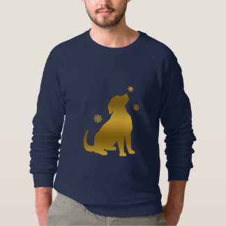 Golden Retriever Puppy Snow Sweatshirt