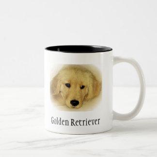 Golden Retriever Puppy Two-Tone Coffee Mug