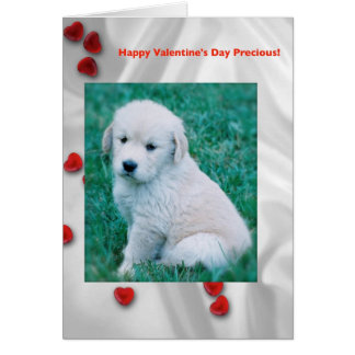Golden Retriever Puppy Valentine's Day Card
