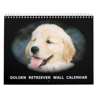 Golden Retriever Puppy Wall Calendar