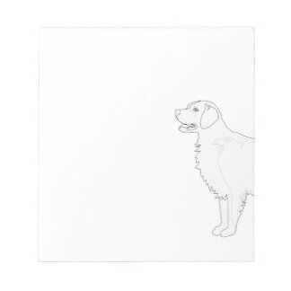 Golden Retriever Ready to Color Design Notepads