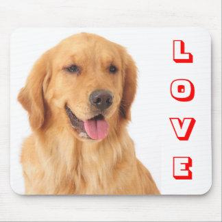 Golden Retriever Red Love Puppy Dog Portrait Mouse Pad