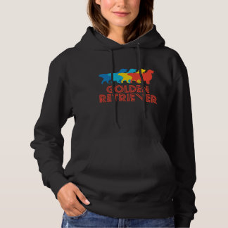 Golden Retriever Retro Pop Art Hoodie