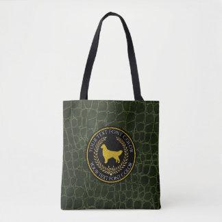 Golden Retriever Ringside Leather Pattern Tote Bag