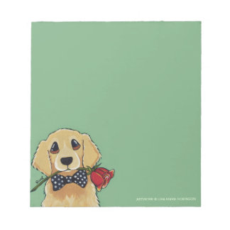 Golden Retriever & Rose Small Notepad