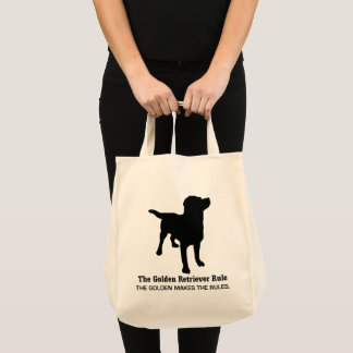 Golden Retriever Rule Grocery Tote
