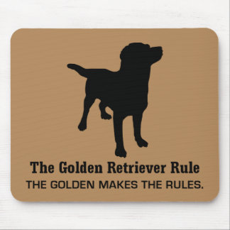 Golden Retriever Rule Mousepad