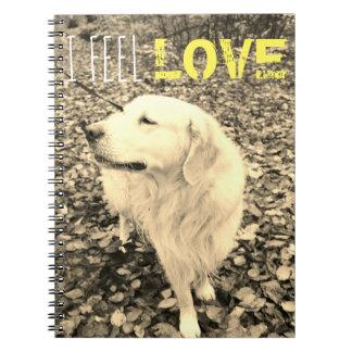 Golden Retriever Sepia Notebook for dogs lovers