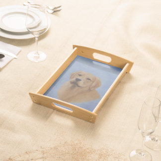 Golden Retriever Serving Tray