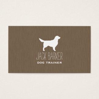 Golden Retriever Silhouette Business Card