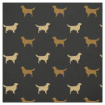 Golden Retriever Silhouettes Fabric