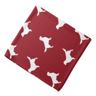 Golden Retriever Silhouettes Pattern Bandana