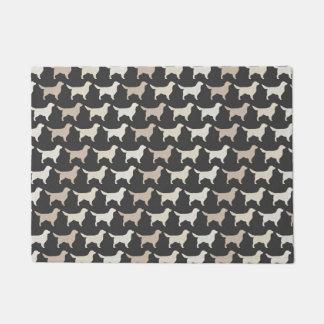 Golden Retriever Silhouettes Pattern Doormat