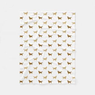 Golden Retriever Silhouettes Pattern Fleece Blanket