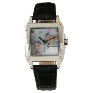 Golden Retriever Skiing Watch