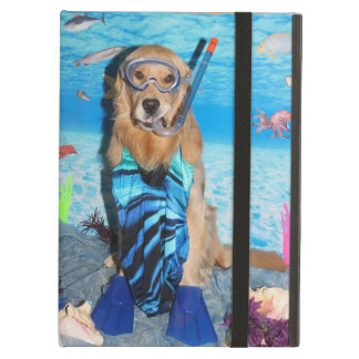 Golden Retriever Snorkeler Case For iPad Air