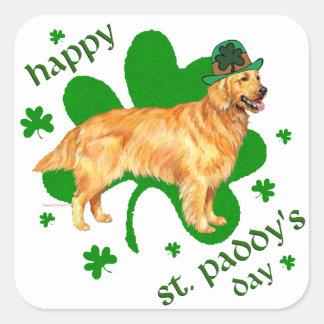 Golden Retriever St Paddy's Day Square Sticker