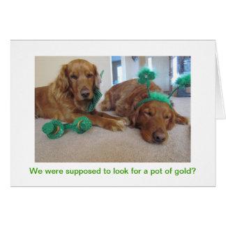 Golden Retriever St. Patrick's Day Card