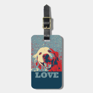Golden Retriever Stylized Love Luggage Tag