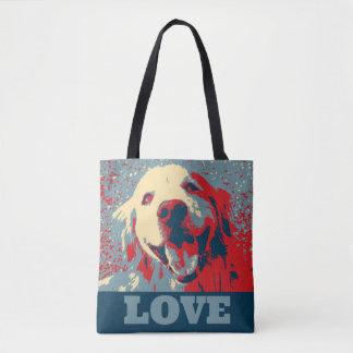 Golden Retriever Stylized Love Tote Bag