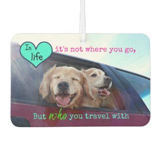 Golden Retriever Travel Friendship Car Air Freshener