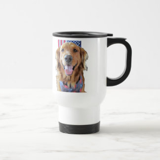 Golden Retriever Travel Mug July 4