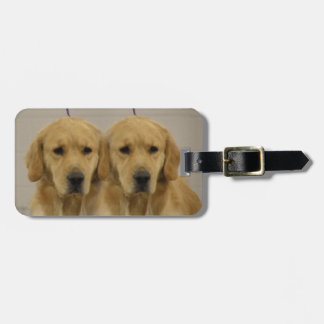Golden Retriever Twins Luggage Topper Luggage Tag