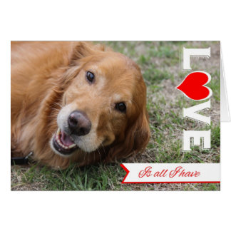 Golden Retriever Valentine Card