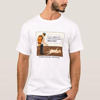 Golden Retriever Watch Dog Cartoon T-shirt