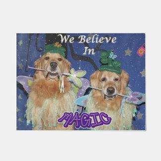 Golden Retriever We Believe In Magic Doormat
